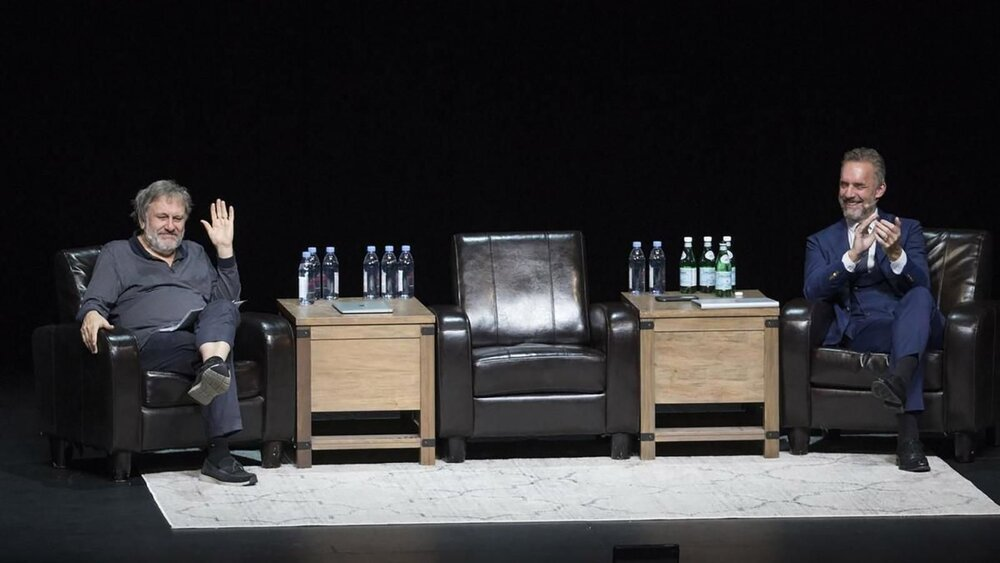 Славой Жижек та Джордан Пітерсон на дебатах