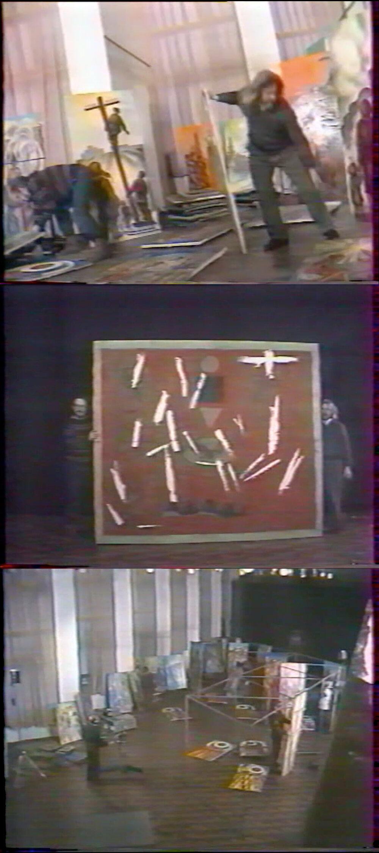 Раскадровки телевизионной программы «Робинзон», от 1 февраля 1993. Из архива Евгения Светличного