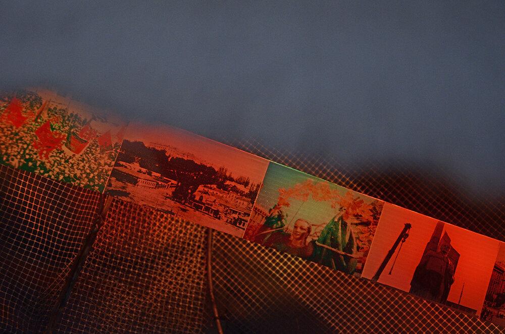 Катя Бучацька, «Візіонер», 2018. Металева рамка, штучне хутро, фотодрук на пластику, відео. Надано авторкою