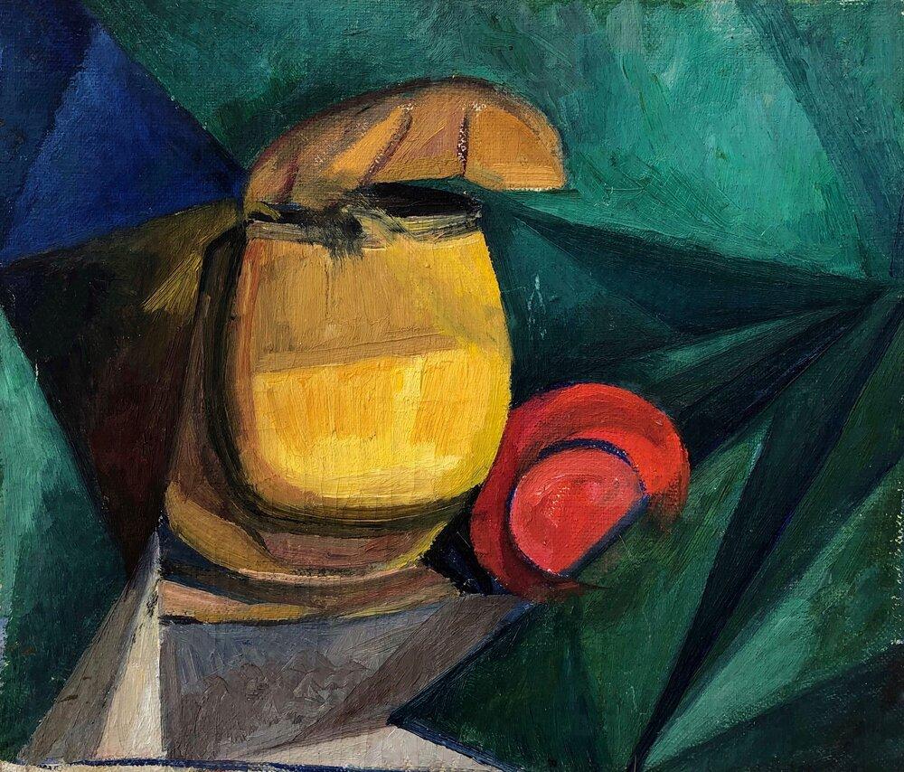 Олександр Богомазов. Натюрморт з настінною сільничкою. Близько 1914. Із колекції Едуарда Димшица