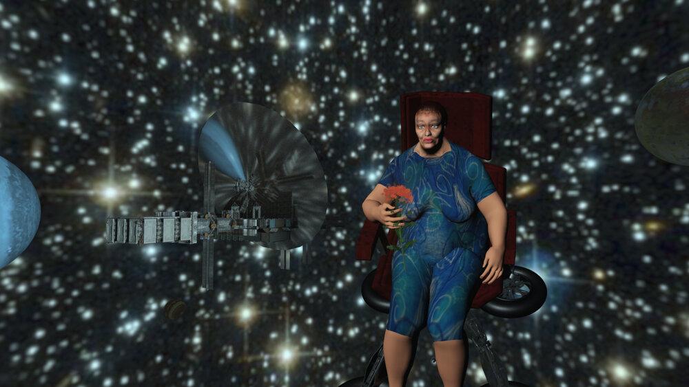 Юлі Голуб. Бабуся у космосі. 2017. Кадр із відео. Надано художницею