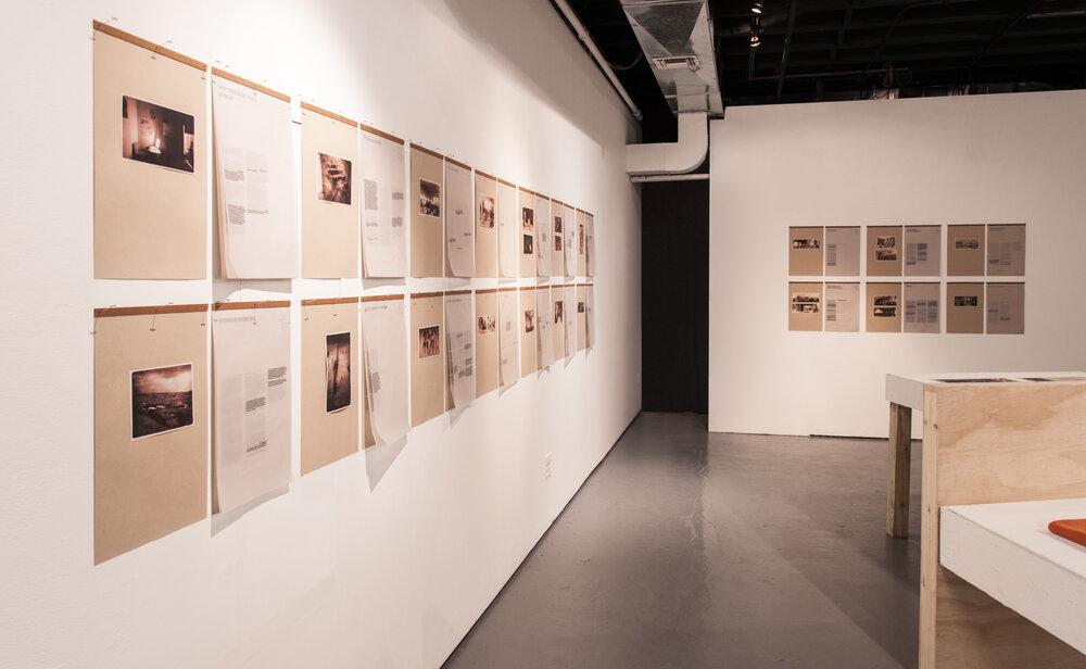 Виставка Migration in Transition в рамках резиденції Flux Factory , Нью-Йорк, 2018. Фотографії надано Юрієм Кручаком