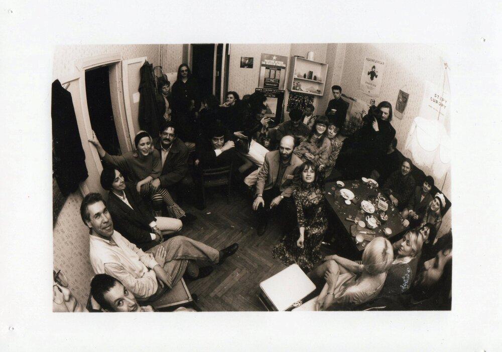 У сквоті Паризької комуни, 1994 рік. Фото надане Олександром Соловйовим