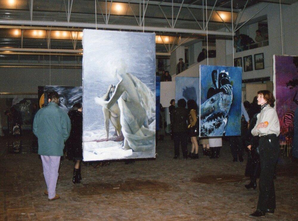 Відкриття виставки «Штиль», 1992 рік. Фото надане Олександром Соловйовим