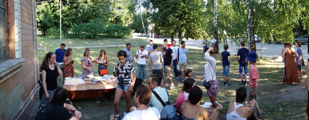Під час фестивалю в селі Шишаки. Фото надане Жанною Кадировою