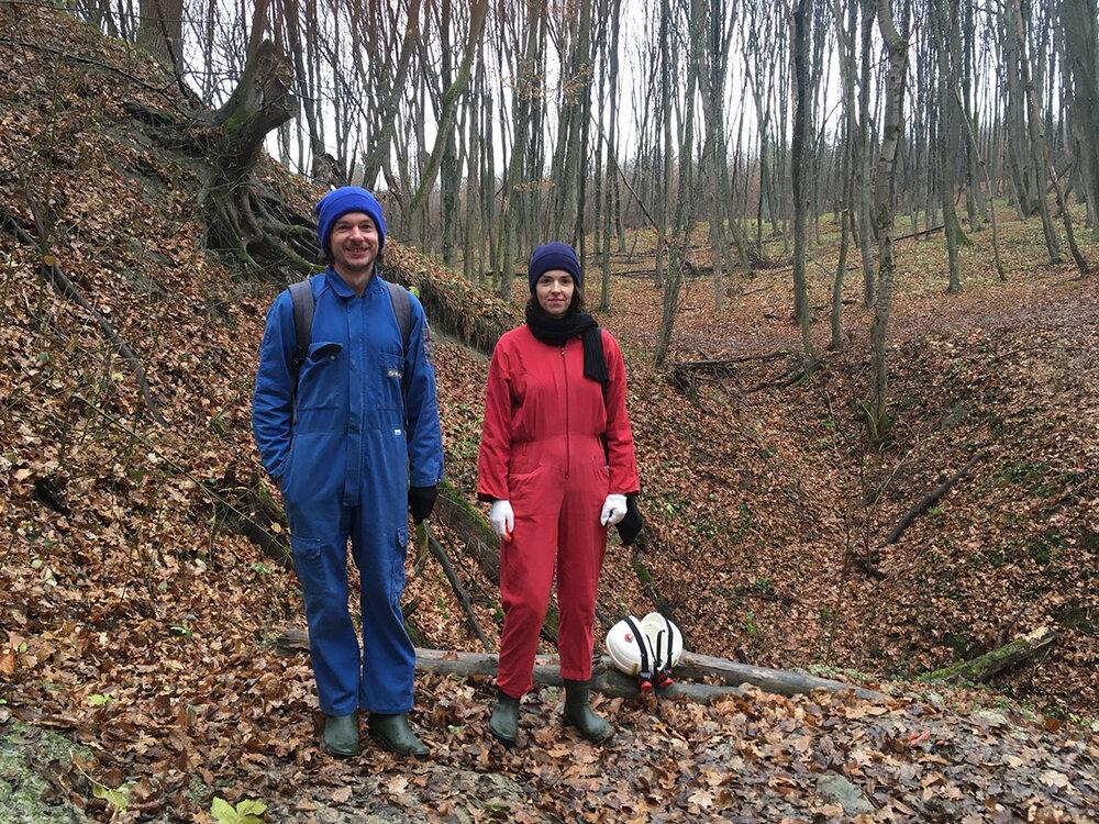 Еліас Парвулеско і Тета Цибульник під час зйомок фільму
