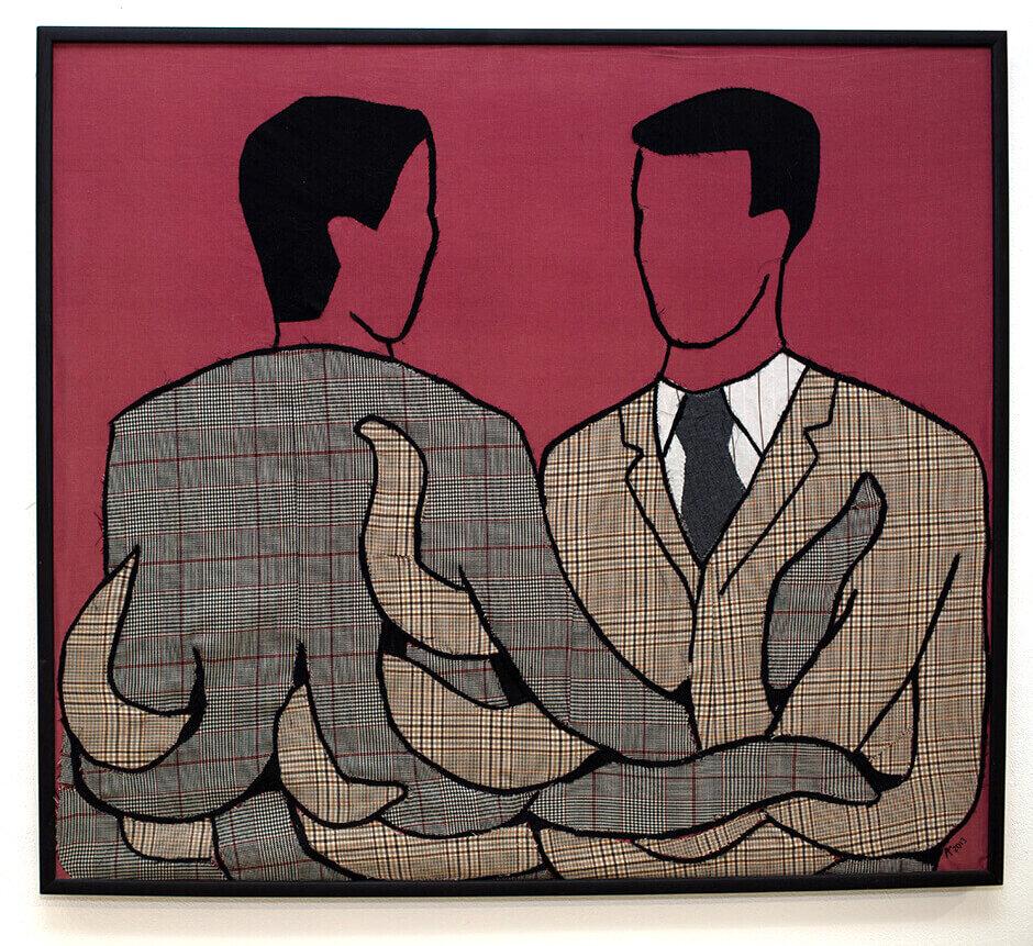 «Дiловi стосунки», 2012, вишитий текстиль