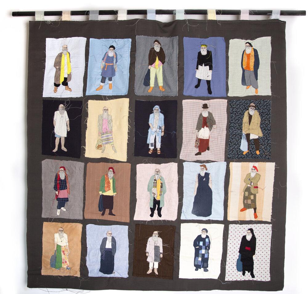 Gerold Brenner, 2019, вишитий текстиль