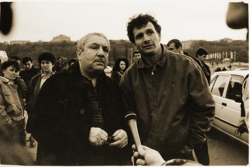 Ернст Неізвєстний та Михаїл Рева, 1995. Надано художником