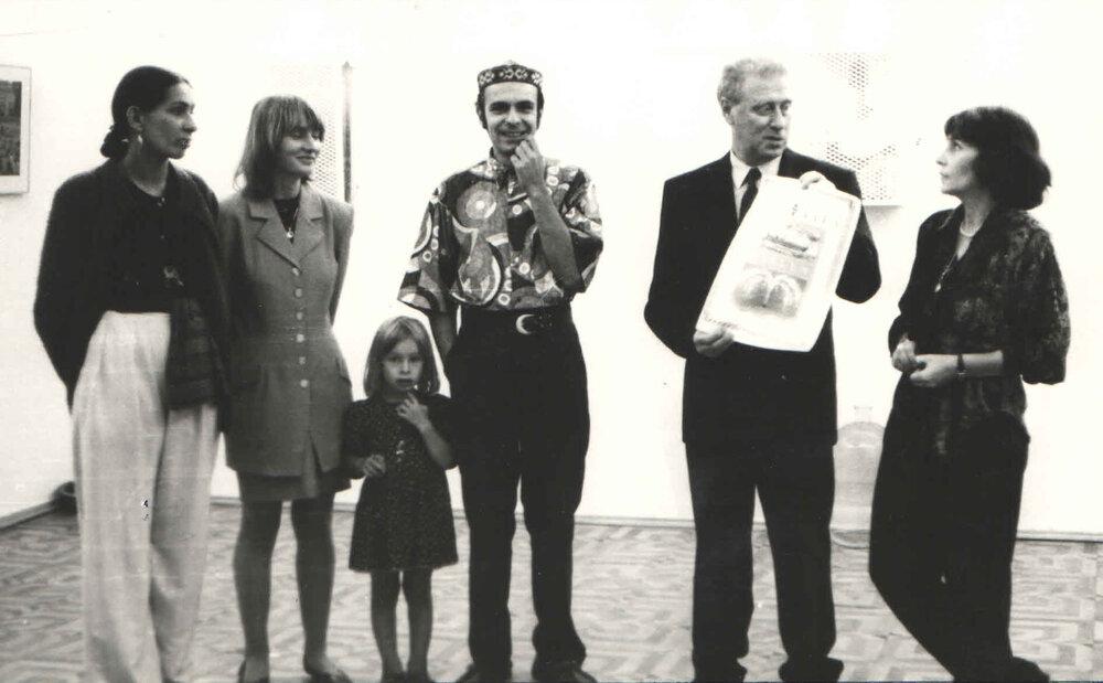 Открытие выставки «Aqua Vita»,Тирс, 1993. Фото из архива Музея современного искусства Одессы