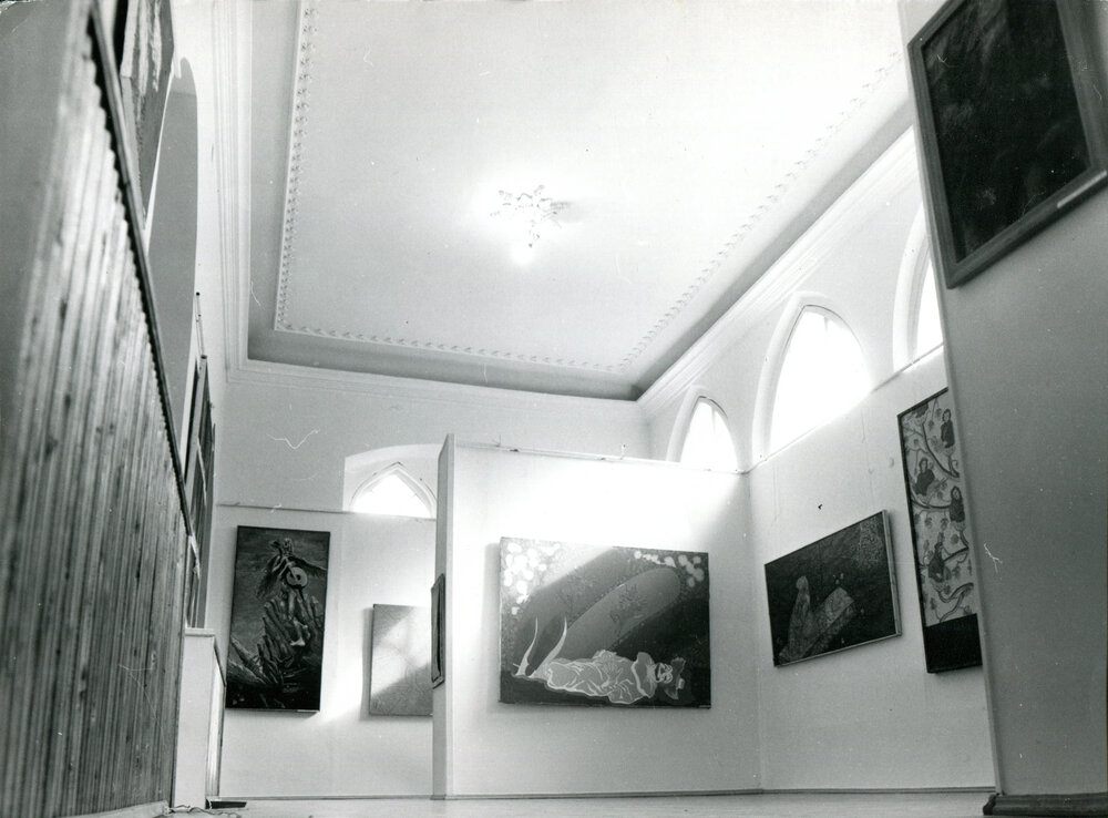 Общий вид постоянной экспозиции ТИРС, начало 1990-х. Фото из архива Музея современного искусства Одессы