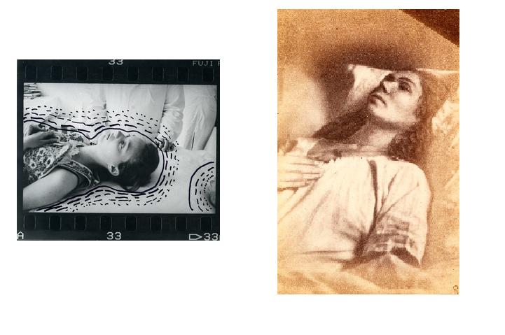Зліва — з серії «Аборт», 2008; Справа — Шарко