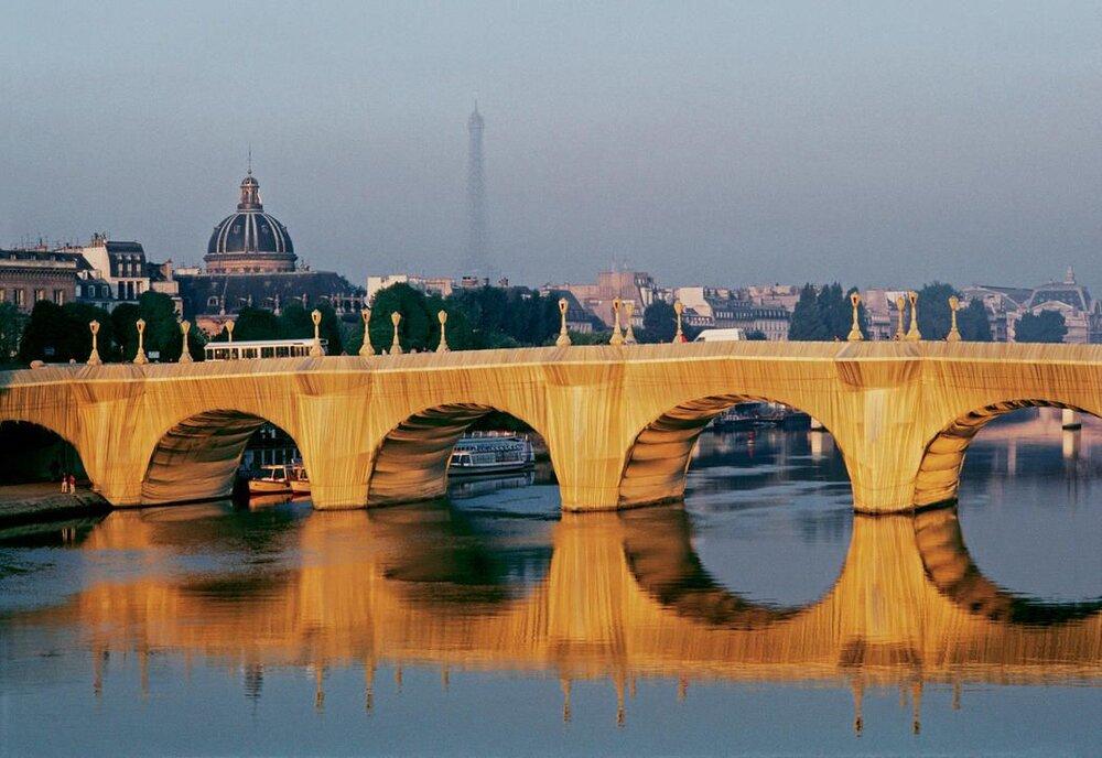 Пон-Неф, Париж, Фото: Wolfgang Volz ©Christo