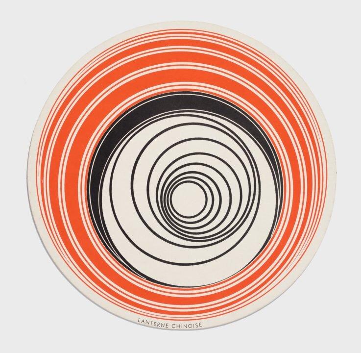Rotoreliefs, 1935 ©HIRSHHORN MUSEUM AND SCULPTURE GARDEN.  Серія двосторонніх дисків, які мали закручуватися на програвачі звукозапису зі швидкістю 40-60 об/хв таким чином, що утворювали візуальну ілюзію