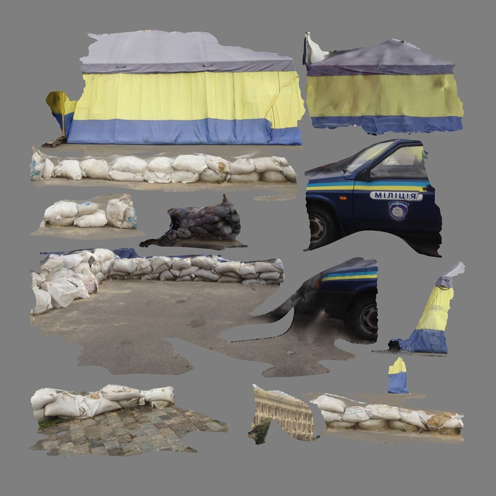 Хіто Штеєрль, Tent/Texture, Kharkiv, 2015. Джерело: oculo.com