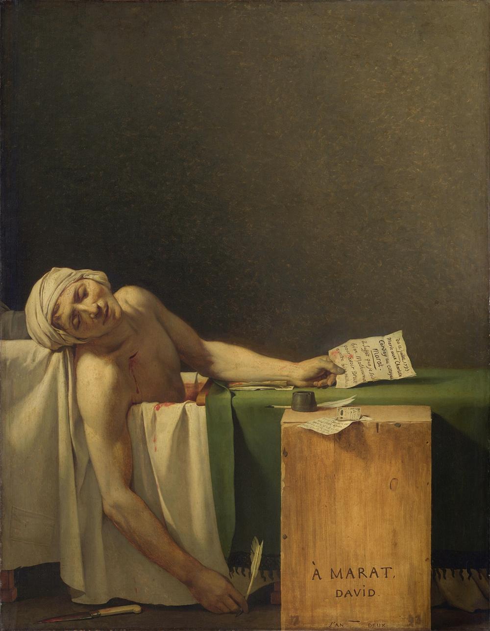 «Смерть Марата», Жак Луї Давид, 1793 © wikipedia