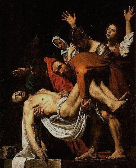 Entombment of Christ, Караваджо, 1603