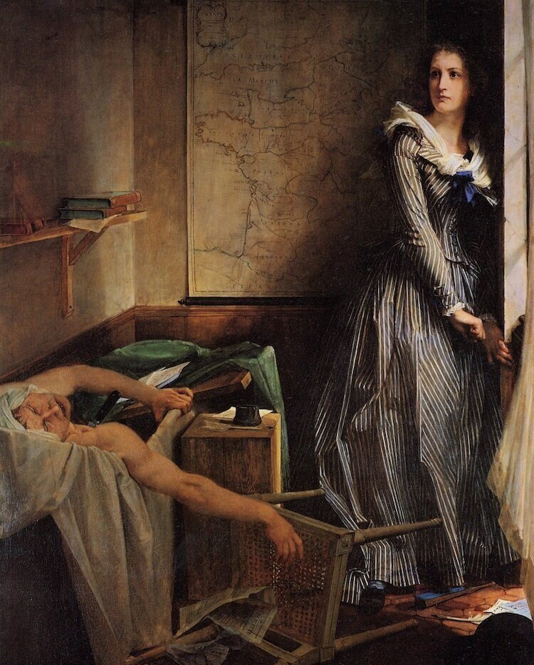 Charlotte Corday After the Murder of Marat, Поль Бодрі, 1860 ©wikimedia