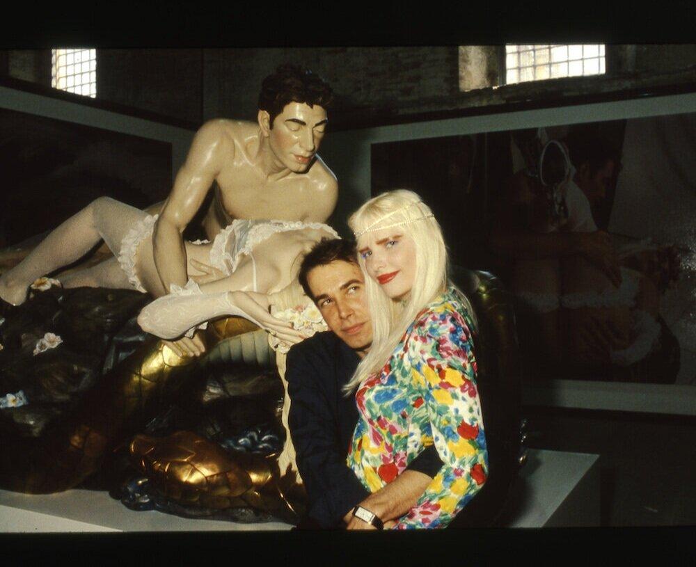 Джефф Кунс та його дружина Чиччоліна. Фото: Giorgio Zucchiatti
