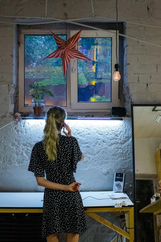 Саша Попруга у майстерні. Фото: Сергій Моргунов