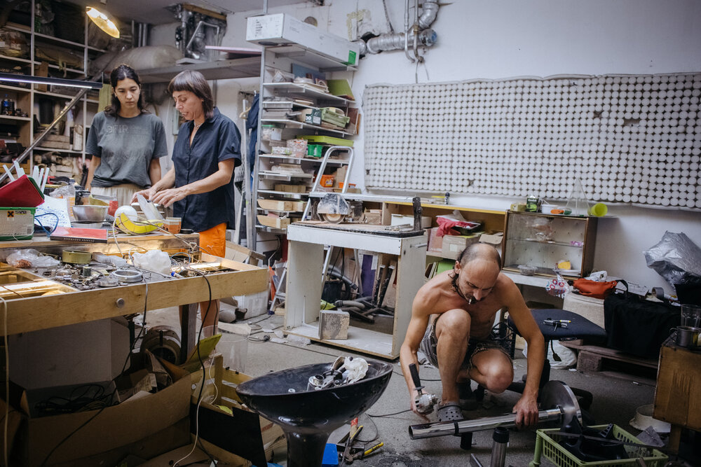 У майстерні Жанни Кадирової та Дениса Рубана. Фото: Сергій Моргунов