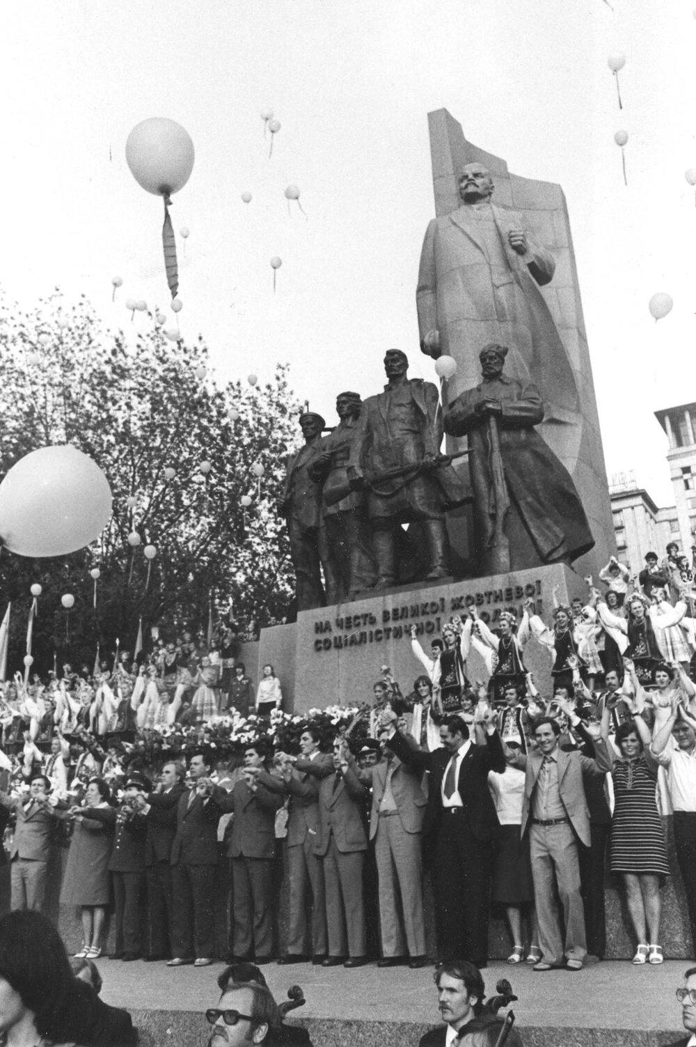 Віктор Марущенко. Відкриття фестивалю «Молоді голоси» на Жовтневій площі, 1978 рік