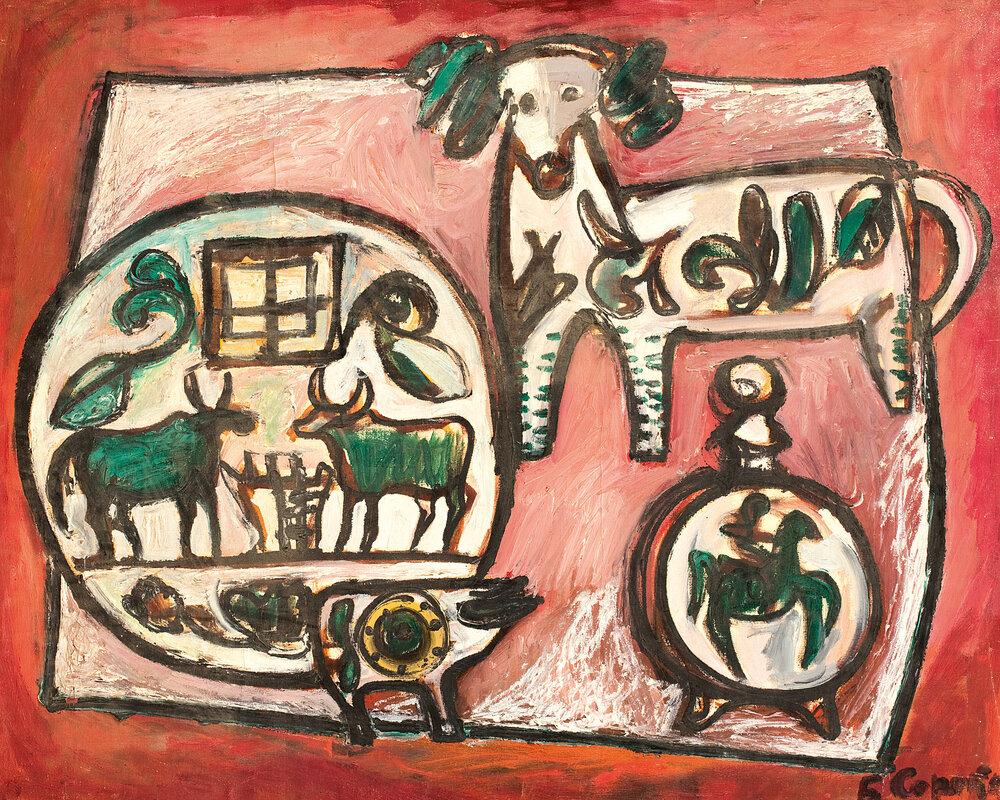 Богдан Сорока. Натюрморт із керамічним посудом 1960-ті.  http://archive-uu.com/ua/profiles/soroka-bogdan