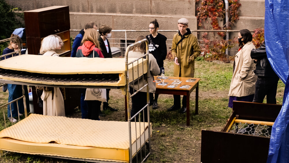 З відкриття проєкту The hotel, the sanatorium, the pension & their refugee`s rooms в NAMU. Фото: Наталка Дячекно