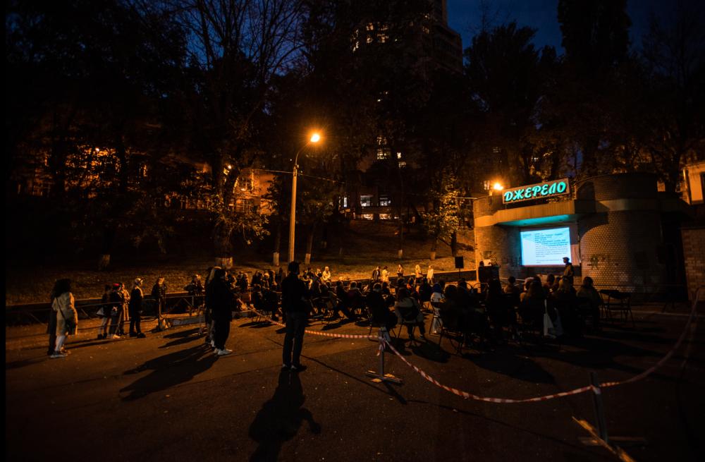 Відкриття виставки Миколи Рідного у просторі бювету «Джерело», 2020. Фото: Наталка Дяченко