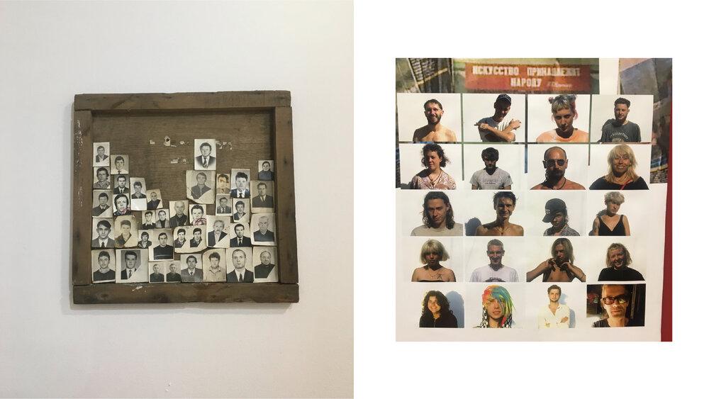Зліва: знайдені фото співробітників заводу. Справа: робота Максима Зацарінного «Випускники СРЗ-2 2020»