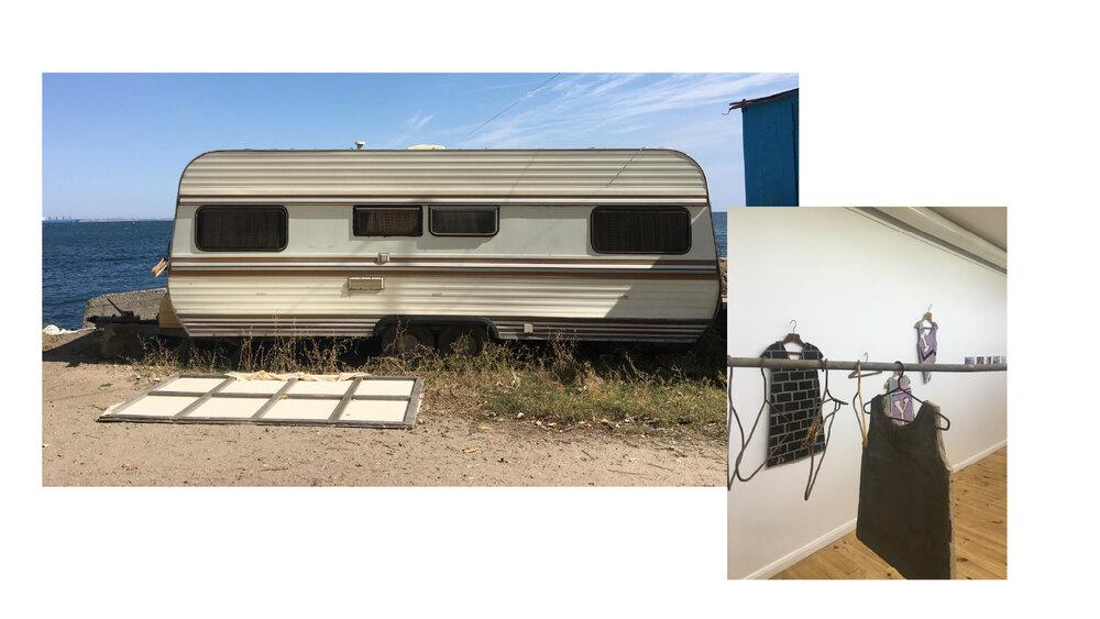 Зліва: трейлер, де живуть Жанна Кадирова та Денис Рубан. Справа: фрагменти із серії «Секондгенд»
