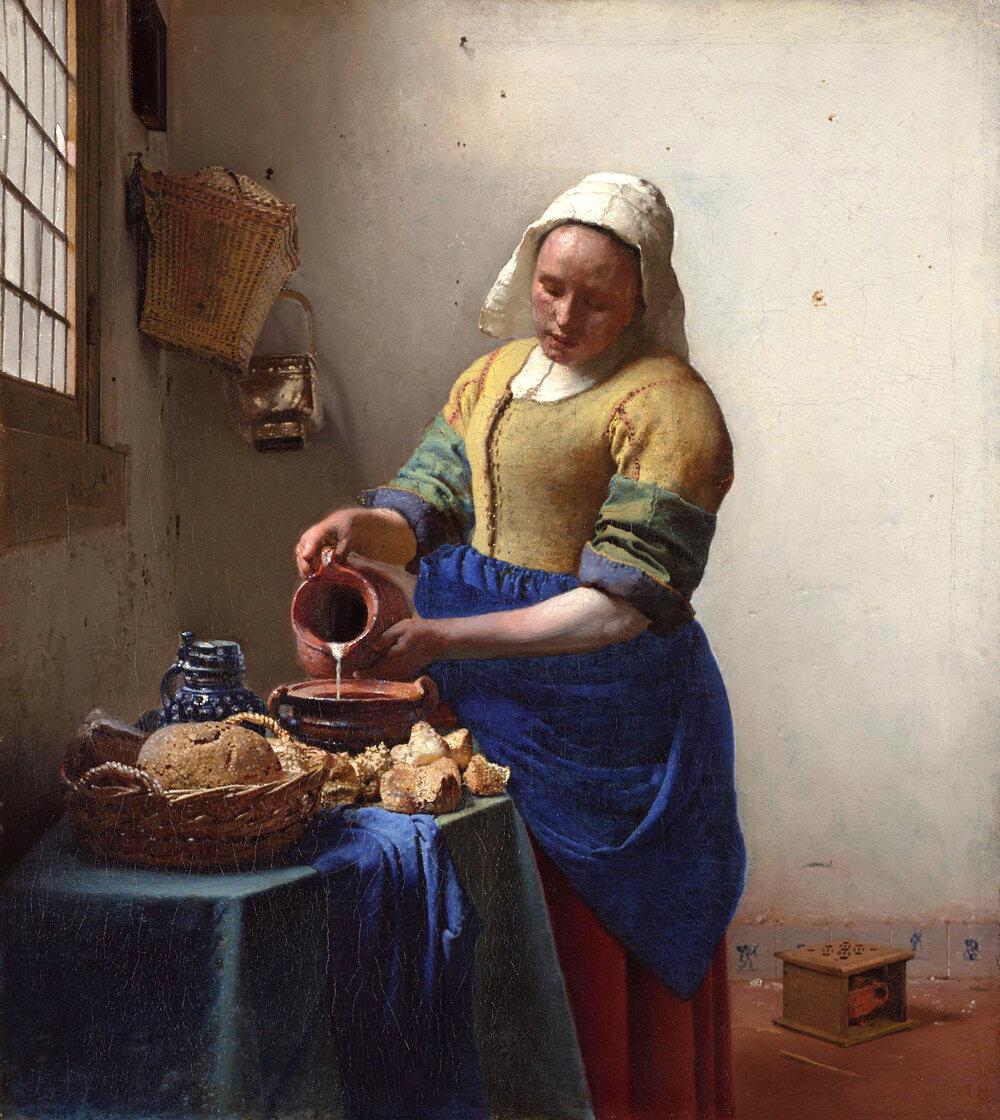 «Служниця наливає молоко» Яна Вермера (1632–1675)