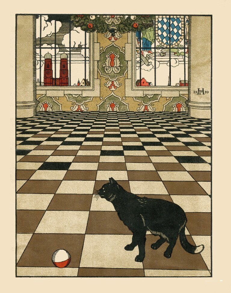 Сторінка з видання «Как мыши кота хоронили» Василя Жуковського. Москва 1910