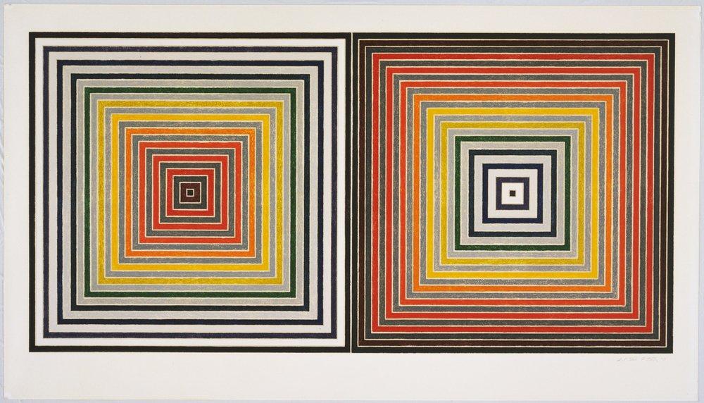 Франк Стелла. «Подвійний сірий», 1973