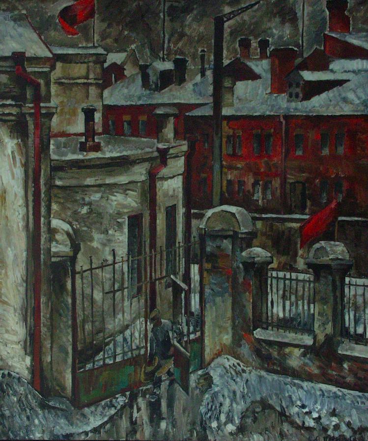 Харків. Жаткінський провулок узимку. 1928. Колекція NAMU