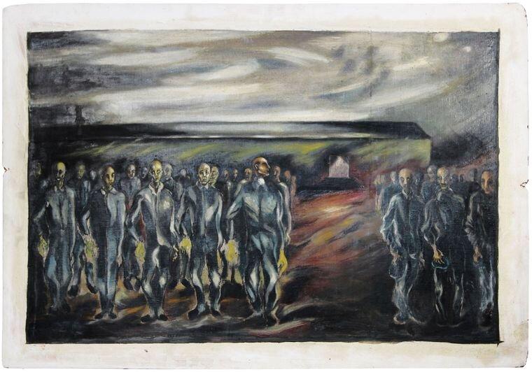 «Перекличка в концлагері», 1946, Boris Lurie Art Foundation
