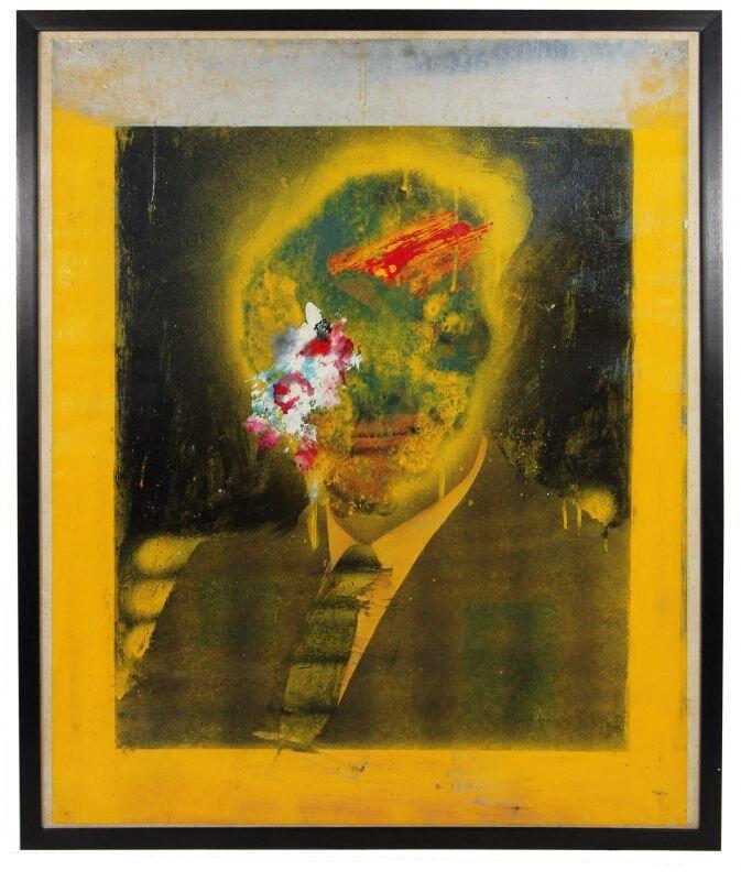 Altered Photos (Cabot Lodge), 1963, Boris Lurie Art Foundation