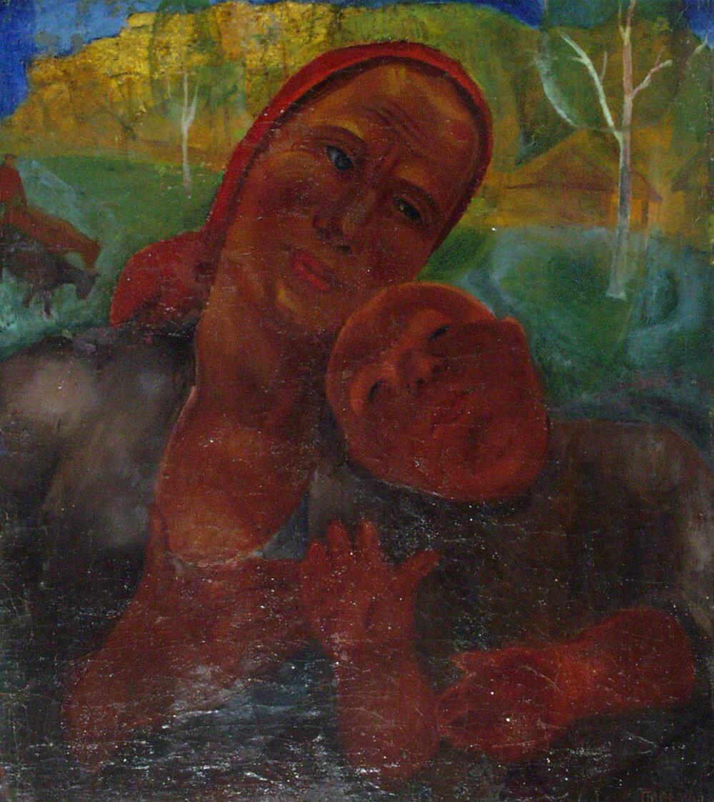 Мати з дитиною. 1927. Колекція NAMU