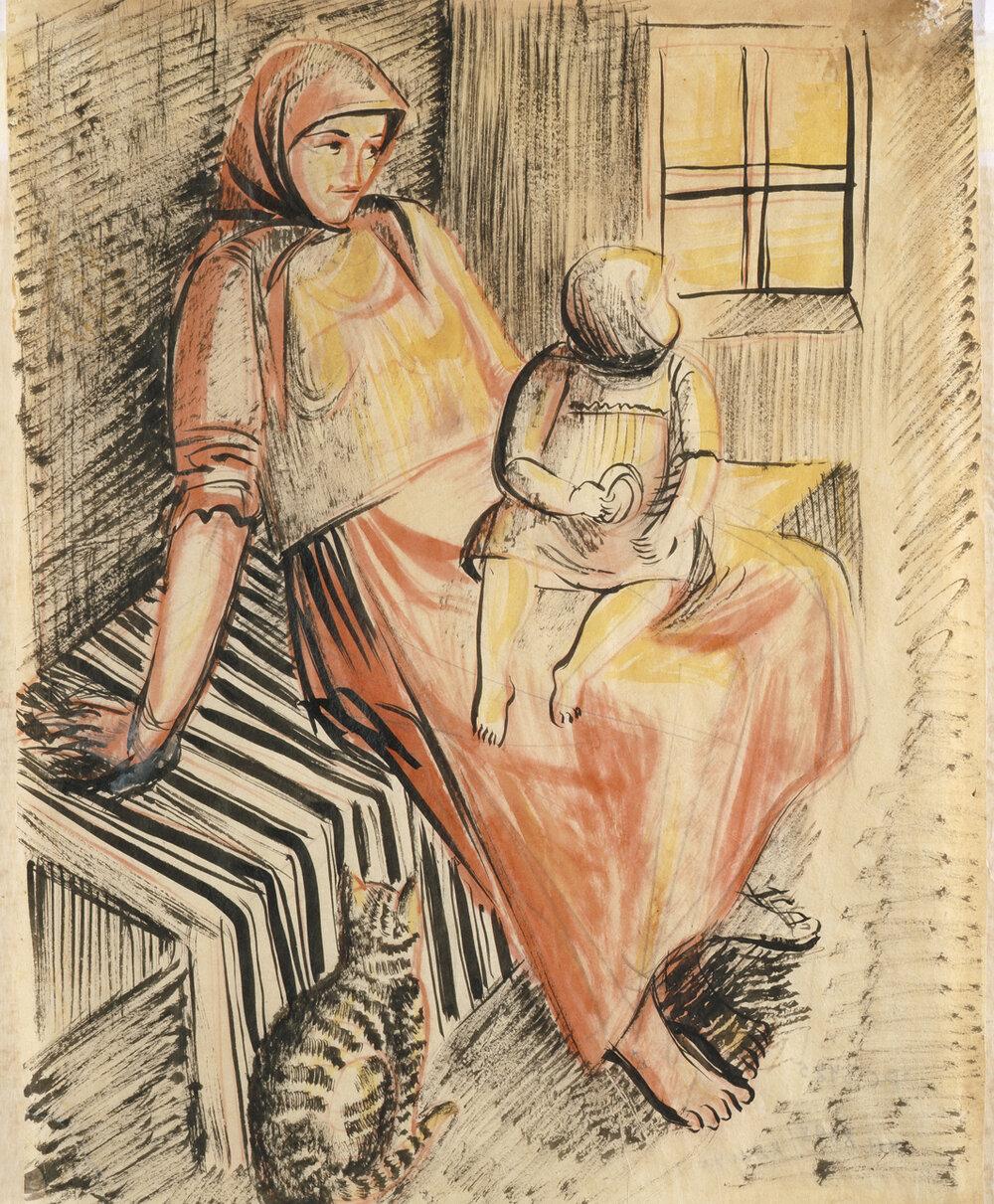 Селянка з дівчинкою, 1926, Колекція NAMU