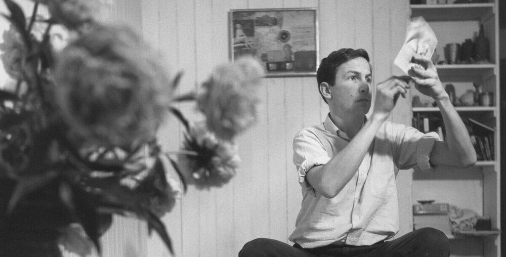 Роберта Раушенберг e своїй студії в Нью-Йорку, 1958. Фото: Джаспер Джонс