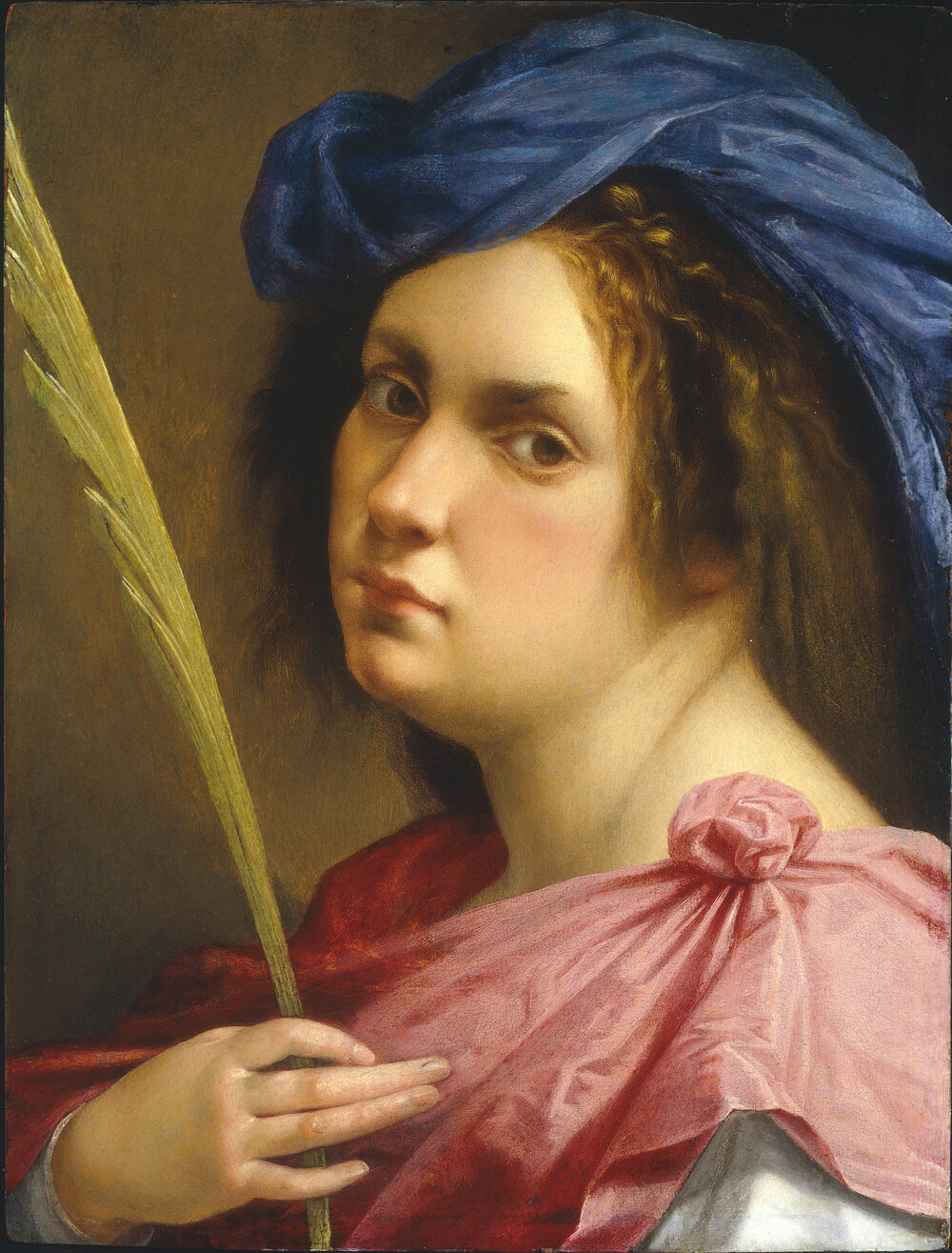 Self Portrait as a Female Martyr, ca. 1613–1614. Фото: PRIVATE COLLECTION