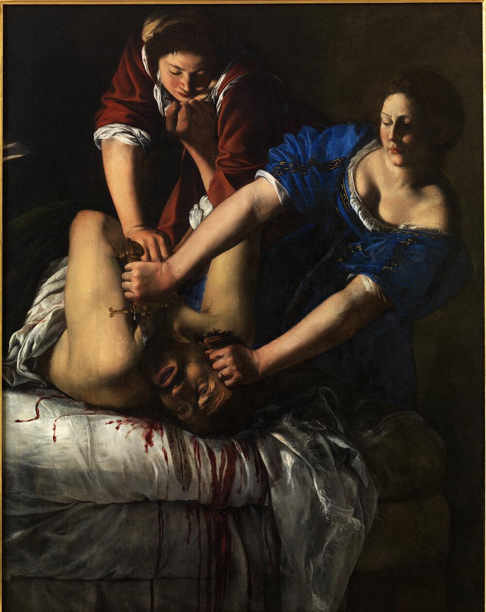 Judith Beheading Holofernes, ca. 1613–1614. ©GABINETTO FOTOGRAFICO DELLE GALLERIE DEGLI UFFIZI
