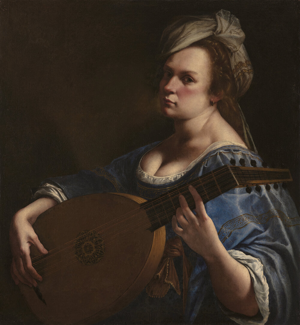 Self-Portrait as a Lute Player, 1615–1618. ©WADSWORTH ATHENEUM MUSEUM OF ART, HARTFORD, CONNECTICUT