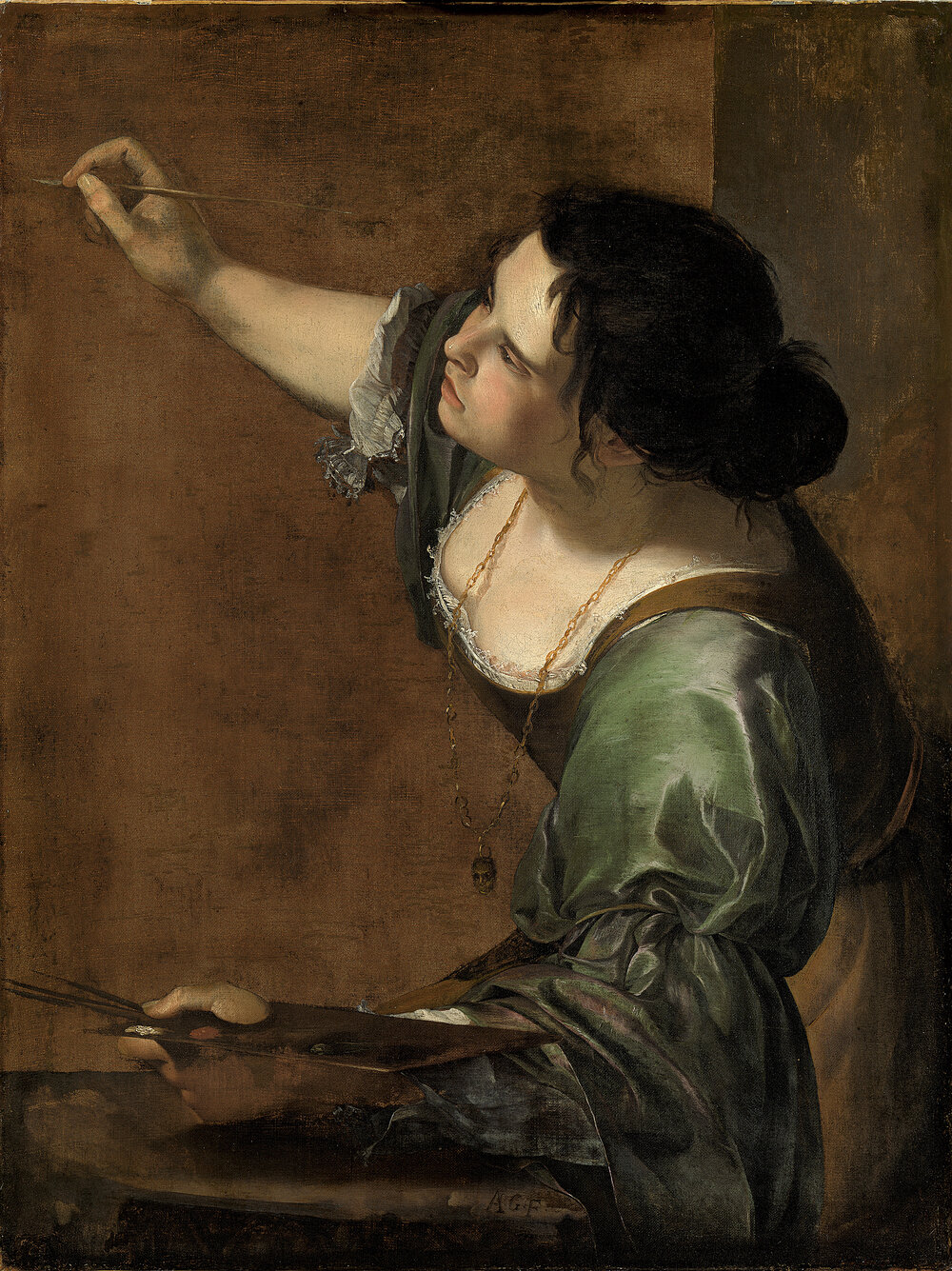 Self Portrait as the Allegory of Painting (La Pittura), 1638–1639.ROYAL COLLECTION TRUST/©2019 HER MAJESTY QUEEN ELIZABETH II