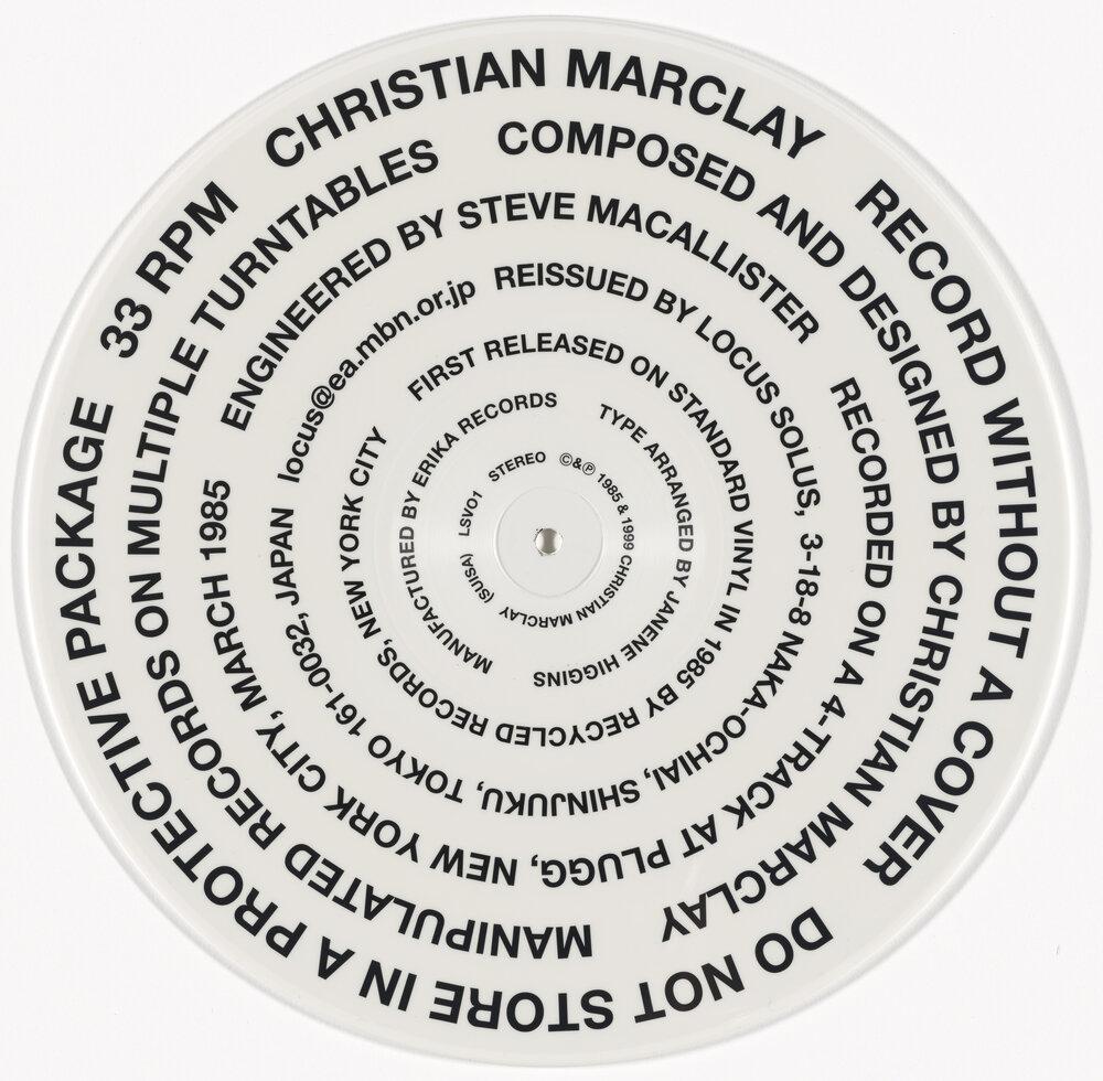 Крістіан Ернест Марклай для своєї обкладинки Record Without a Cover (1985/99)