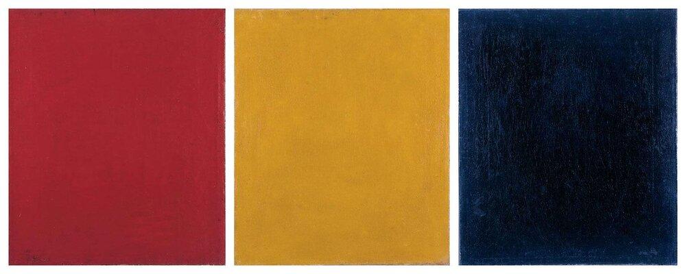 Олександр Родченко, «Червоний. Жовтий. Синiй», 1921