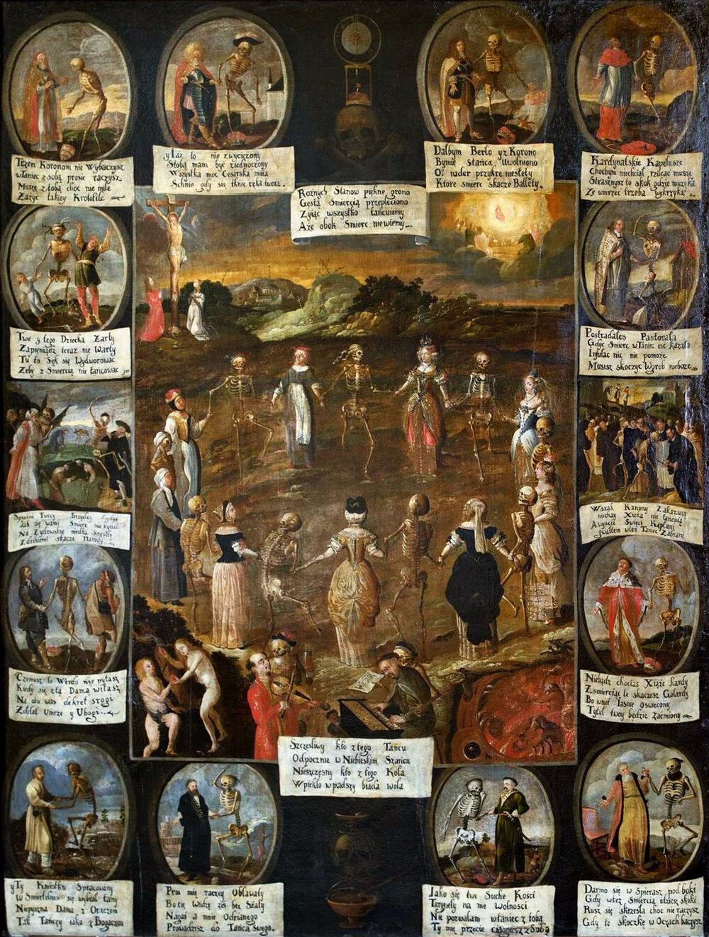 Автор невідомий, «Танець смерті», монастир бернардинів, 1660, (Краків, Польща)