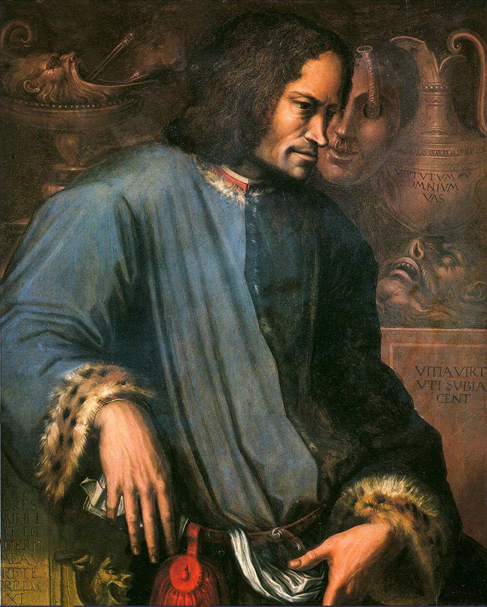 Джорджо Вазарі, «Портрет Лоренцо Розкішного», 1533, Галерея Уффіці (Флоренція, Італія)