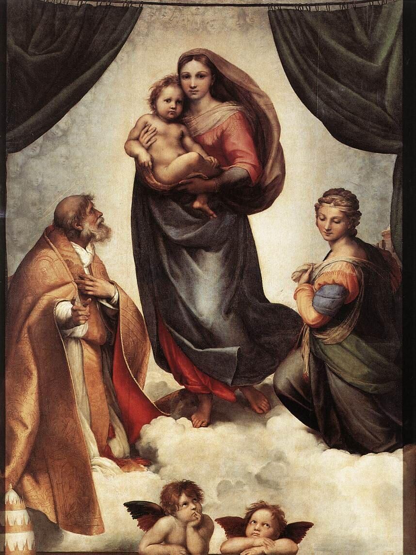 Рафаель Санті, «Сікстинська Мадонна», 1513–1514, Дрезденська картинна галерея, (Дрезден, Німеччина)