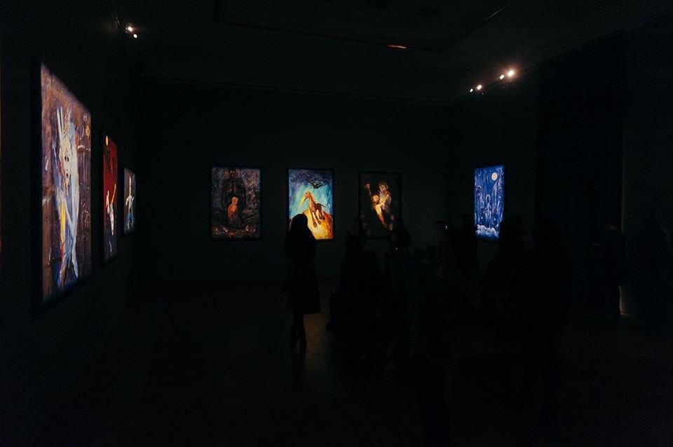 Вид экспозиции «Я+GOD=А», NAMU, 2020